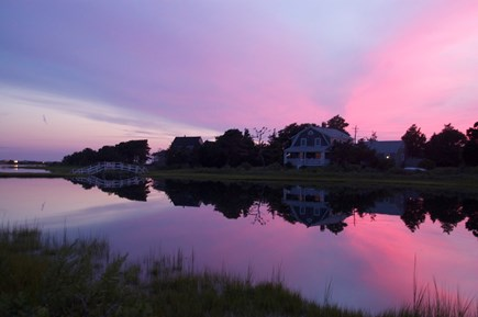 East Falmouth Cape Cod vacation rental - Pond from in front of the house