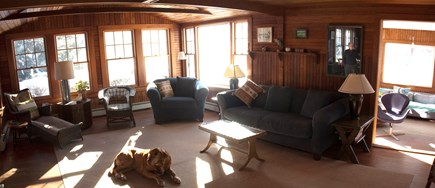 East Falmouth Cape Cod vacation rental - Living room (reverse)
