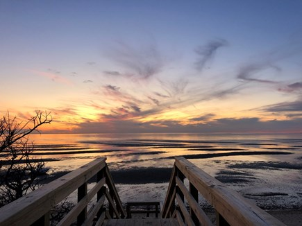 Eastham Cape Cod vacation rental - Private beach just steps away for gorgeous sunsets over the bay