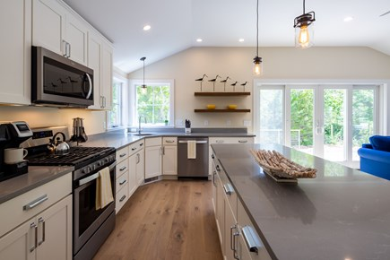 Eastham Cape Cod vacation rental - Gorgeous kitchen opens onto upper patio