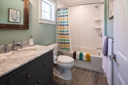 Eastham Cape Cod vacation rental - Bathroom 1 - ensuite with tub/shower combo