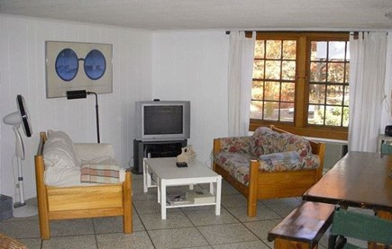 Eastham Cape Cod vacation rental - Living room and eating area