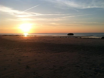 Dennis Cape Cod vacation rental - Sunset at the end of Pilgrim Road