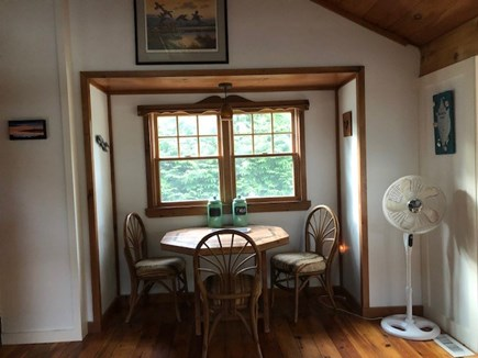 Wellfleet, Pleasant Point Cape Cod vacation rental - Dining Nook for when the weather isn't so nice!