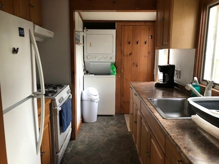 Wellfleet, Pleasant Point Cape Cod vacation rental - Galley Kitchen stocked with the necessities plus washer/dryer!