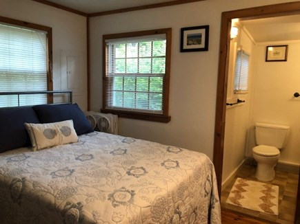 Wellfleet, Pleasant Point Cape Cod vacation rental - Bedroom with double bed and attached bath with shower