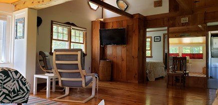 Wellfleet, Pleasant Point Cape Cod vacation rental - Living Room with comfy chairs and flat screen TV