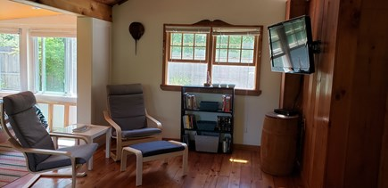 Wellfleet, Pleasant Point Cape Cod vacation rental - Enjoy the living room with the horseshoe crab!