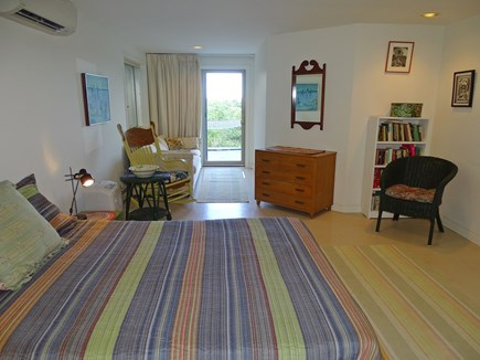Truro Cape Cod vacation rental - Compass room bedroom with door to deck