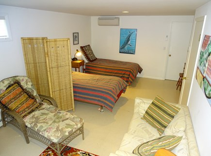 Truro Cape Cod vacation rental - Twin bedroom with couch and play area- games, crafts, and more