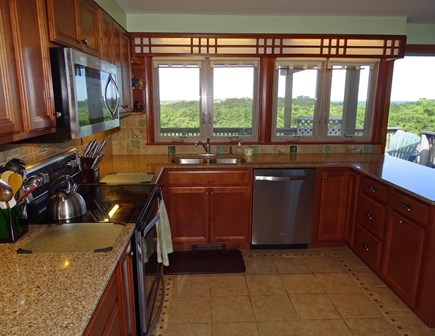 Truro Cape Cod vacation rental - Kitchen remodeled in 2017, water views