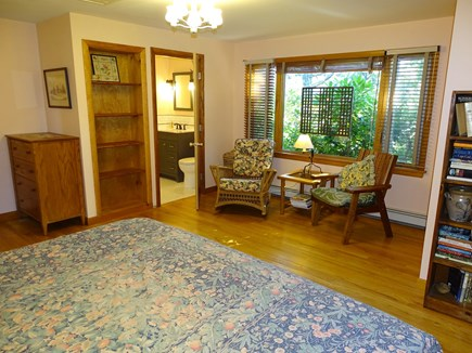 Truro Cape Cod vacation rental - Master offers sitting area, new bathroom with glass shower