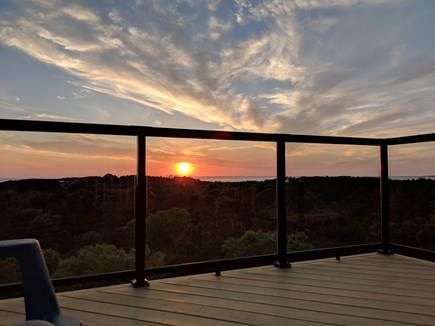 Truro Cape Cod vacation rental - Sunset from the Crow's Nest - perfect end to a perfect Truro day!