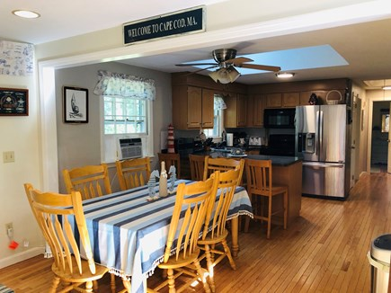 Brewster Cape Cod vacation rental - Eating area and kitchen