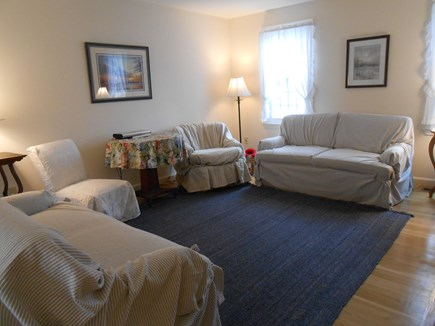 Dennis, Harwich Cape Cod vacation rental - Living Room, opens to dining room & TV room.