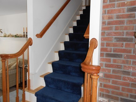 Dennis, Harwich Cape Cod vacation rental - Stairs from RM & TV room lead to 2nd floor bedroom