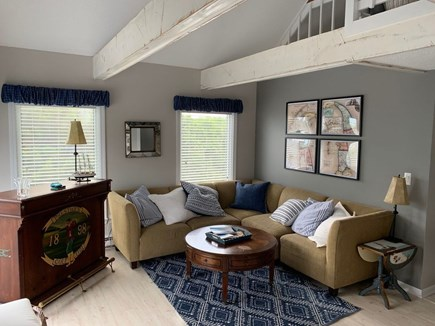 Eastham Cape Cod vacation rental - Family room on main floor (sectional couch).
