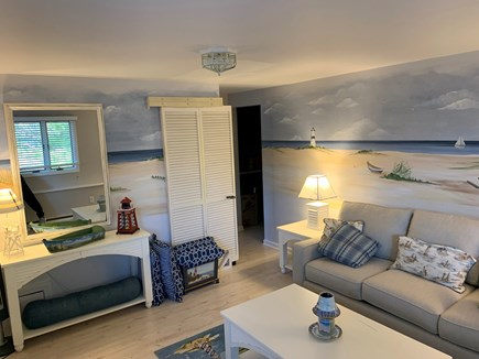 Eastham Cape Cod vacation rental - Lower floor front bedroom (queen pull-out couch).