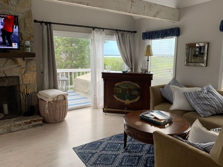 Eastham Cape Cod vacation rental - Living space walks right out to the deck and bay views.