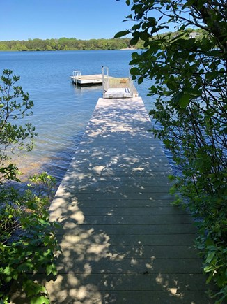 DENNIS Cape Cod vacation rental - 2 separate docks: one fixed, one floating on Scargo Lake