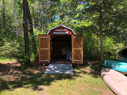 DENNIS Cape Cod vacation rental - School house with kayaks, lawn chairs, games and more