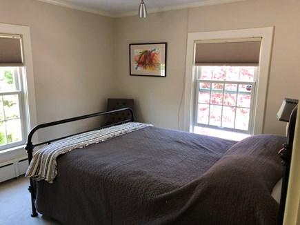 DENNIS Cape Cod vacation rental - Queen bedroom overlooking back gardens.