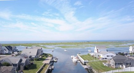 West Dennis Cape Cod vacation rental - Drone shot from our house