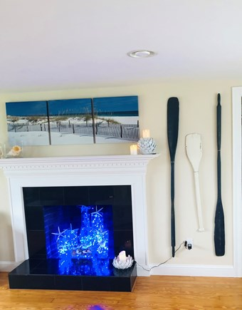 West Dennis Cape Cod vacation rental - Fireplace makes a great place to relax at the end of your day