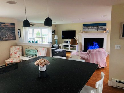 West Dennis Cape Cod vacation rental - The view from the large kitchen island