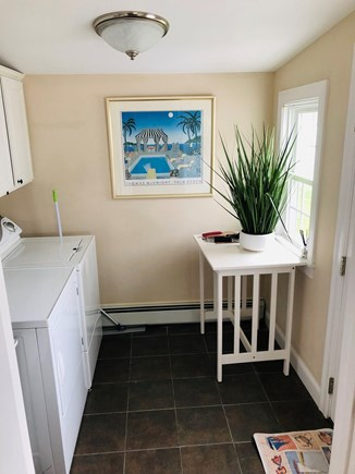 West Dennis Cape Cod vacation rental - Into the laundry area and back deck