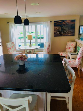 West Dennis Cape Cod vacation rental - New dining table added  with a perfect view