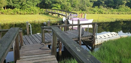 Falmouth Cape Cod vacation rental - Dock w/ floater to launch kayak & paddle boards