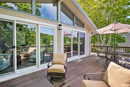 Falmouth Cape Cod vacation rental - Back deck