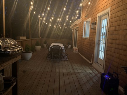 Brewster Cape Cod vacation rental - Deck at night