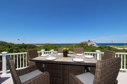 Dennis Cape Cod vacation rental - Dining Area on Deck