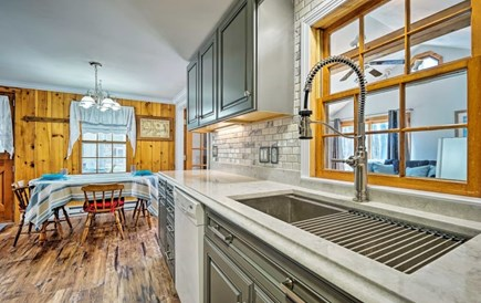 South Yarmouth Cape Cod vacation rental - Kitchen with eating area