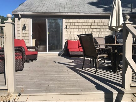 Dennis Cape Cod vacation rental - Great deck for relaxing, dining and grilling!