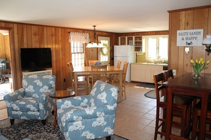 Eastham Cape Cod vacation rental - Living, dining and kitchen area