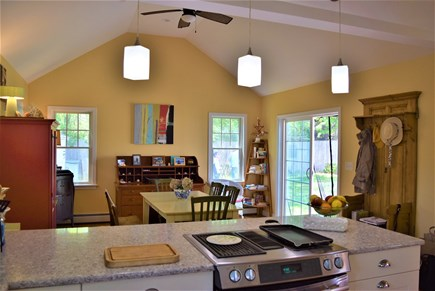 West Yarmouth Cape Cod vacation rental - kitchen opens to large dining room
