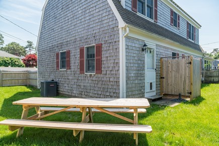 Dennis Port Cape Cod vacation rental - Outdoor Shower and Picnic table for outside eating