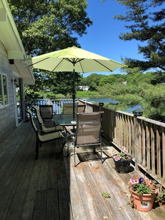 E Falmouth Cape Cod vacation rental - Large deck on the water