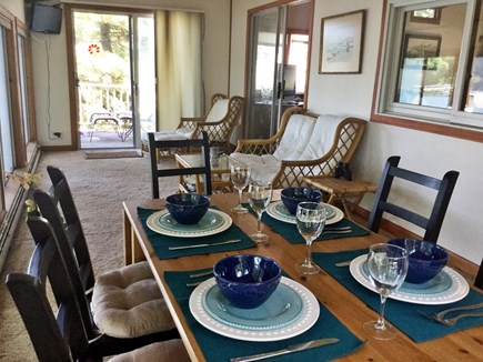 E Falmouth Cape Cod vacation rental - Dining area/sunroom