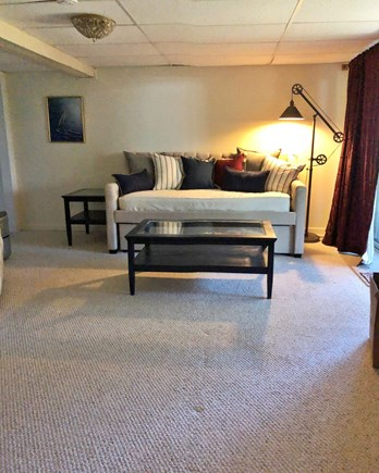 E Falmouth Cape Cod vacation rental - Downstairs living room with Trundle bed
