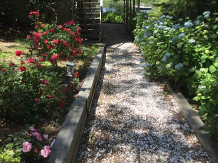 E Falmouth Cape Cod vacation rental - The walk way