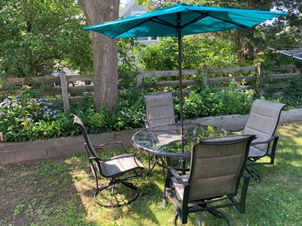 Plymouth, White Horse Beach, Manomet MA vacation rental - Backyard seating for an afternoon of enjoying the sea air