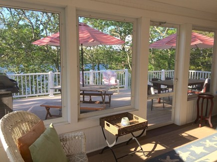 Orleans Cape Cod vacation rental - Screened porch & deck overlooking water
