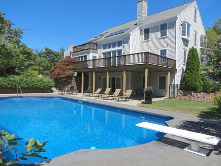Yarmouth Cape Cod vacation rental - The in-ground 20' x40' pool is the focus of the exterior space