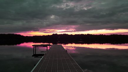 Barnstable, Marstons Mills Cape Cod vacation rental - Sunset on Middle Pond
