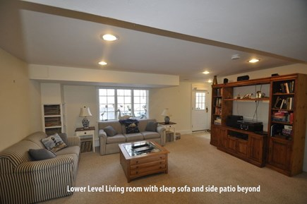 Barnstable, Marstons Mills Cape Cod vacation rental - Walkout lower level living room w/adjacent private patio