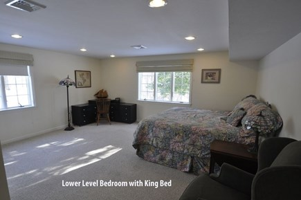 Barnstable, Marstons Mills Cape Cod vacation rental - Walkout lower level bathroom with king bed.